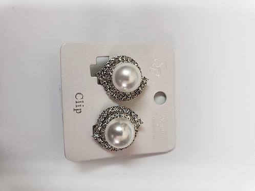 Pearl Clip Earrings