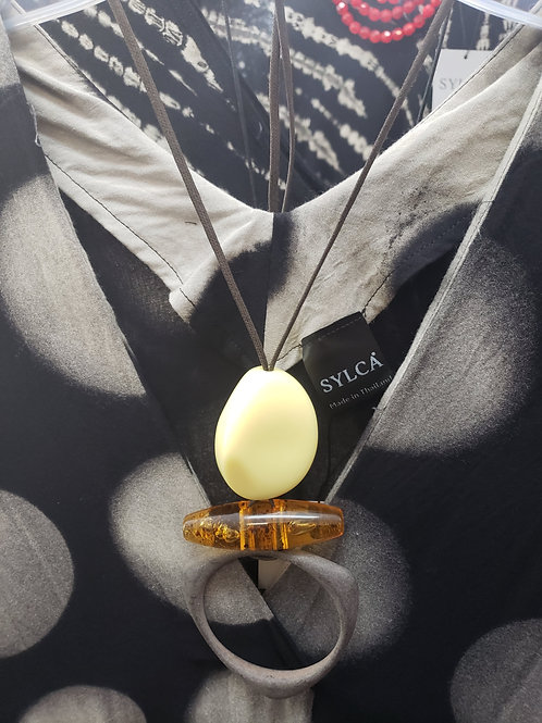 Tortoise/Stone Inspired Necklace