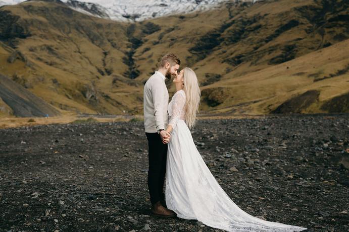 romantisches Elopement in Island