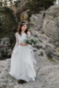 Brautmode, Zweiteiler, Rock und Spitzentop, bohemian style,Tüllrock