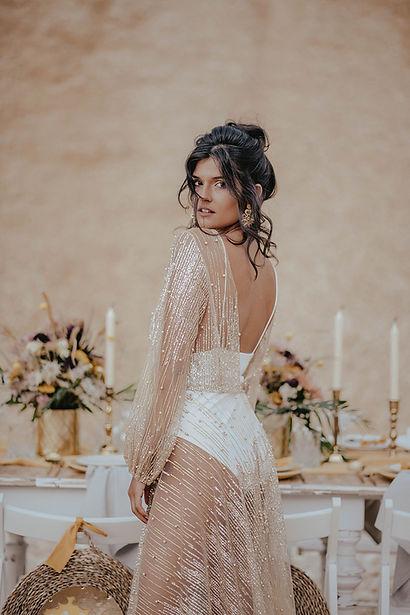 Brautkleid im Bohostil, Transparent, nude, Glitter, sparkle, Boho, gypsy,wildhearts