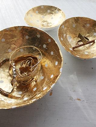 Handmade Gold Leaf Paper Bowls