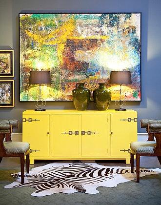 Bright Yellow Lacquer Cabinet