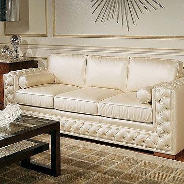 White Silk Sofa