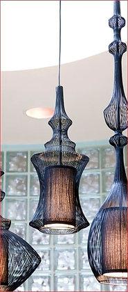 Black Wire Pendant Lights (set of 3)