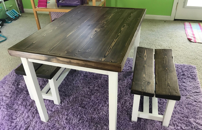 Playroom Table and Benches