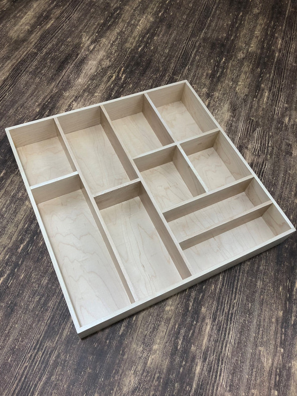 Custom Hardwood Drawer Organizer