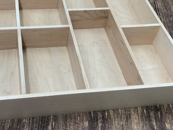Custom Hardwood Drawer Organizer