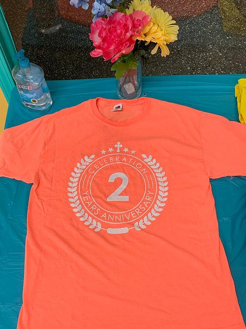 2-Y Anniversary Shirt Peach
