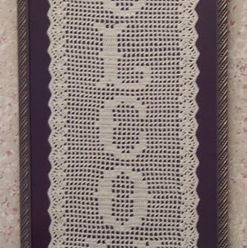 Crocheted Welcome Framed