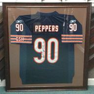 Peppers 90 Football Jersey Framed