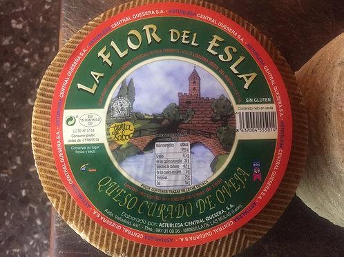 """Cuña 0.300 gr Queso León curado oveja """"La flor del esla"""""""