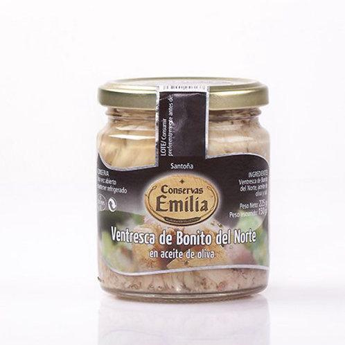 Ventresca de Bonito del Norte en aceite de oliva 225 g