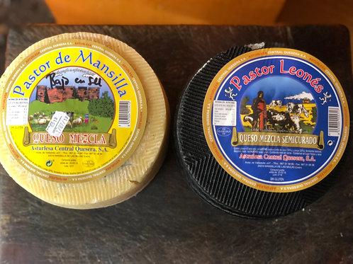 Pack oferta León : quesos mezcla 6 kg entre los 2