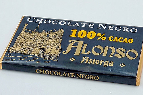 Chocolate NEGRO 100% CACAO 150 GR.