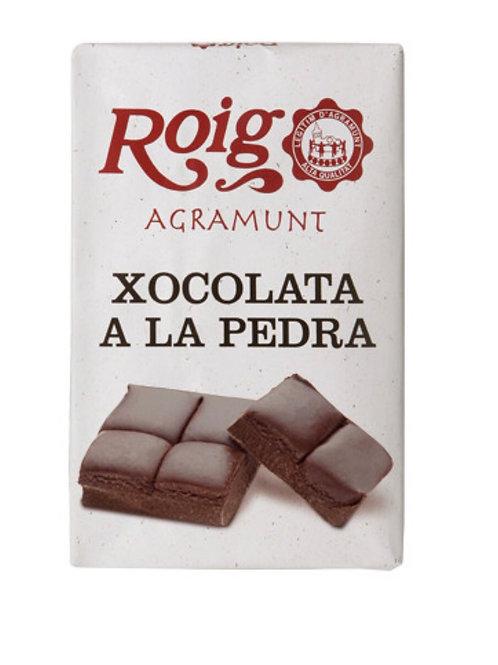 Chocolate a la piedra. Peso neto 350g