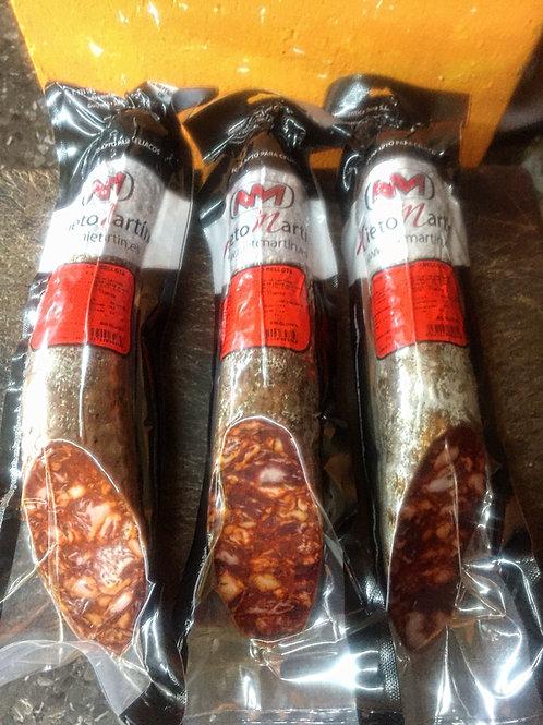 Chorizo cular Bellota Guijuelo medias piezas 0.750 gr
