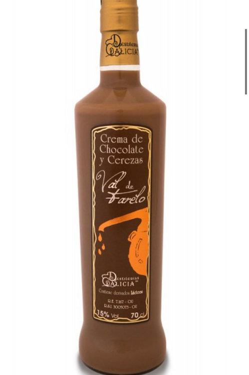 Crema de chocolate y cereza. Val de Farelo