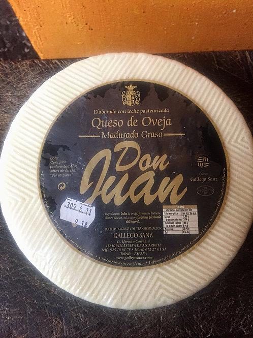 Media pieza Queso oveja tierno Manchego Don Juan