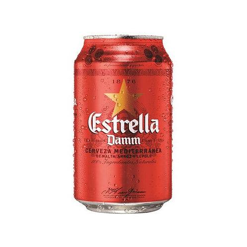 Cerveza lata Estrella Damm