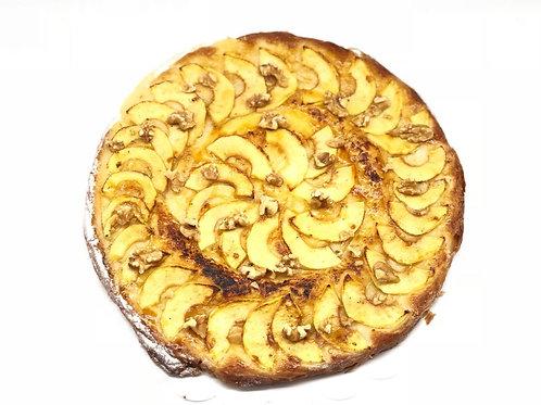 Ensaimada de crema , manzana y nueces