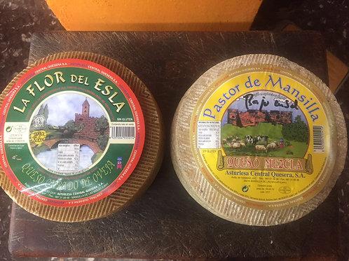 Pack oferta Quesos de León: Oveja+mezcla , 6 kg entre los 2