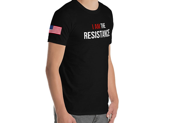 I am the resistance USA Flag - Men's  T-Shirt
