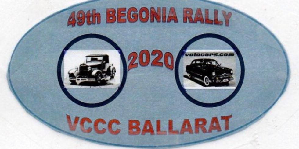 49th Ballarat Begonia Rally: 21-23 February  2020