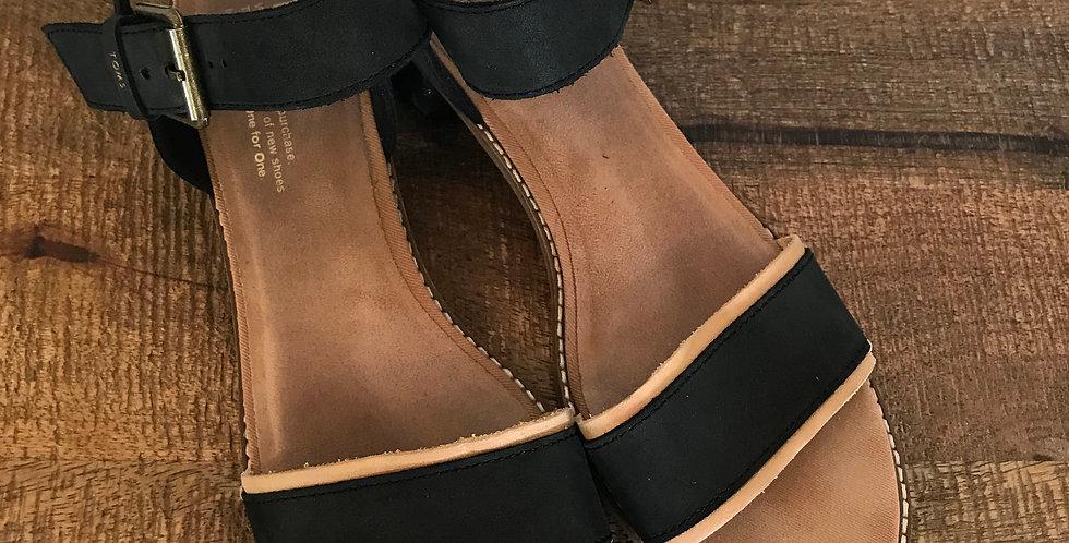 Toms Low Block Heel Sandals, Size 9.5