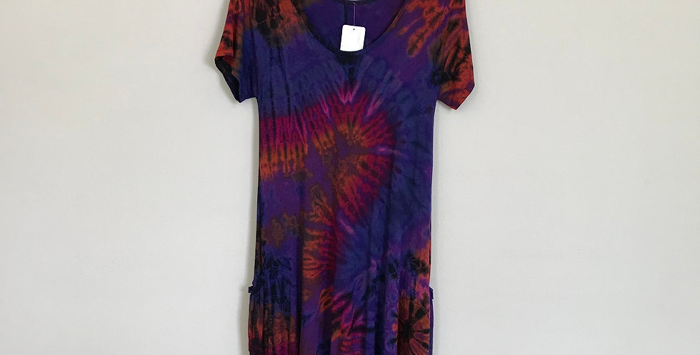 Zeyma Collection Tie Dye Dress, Size S/M