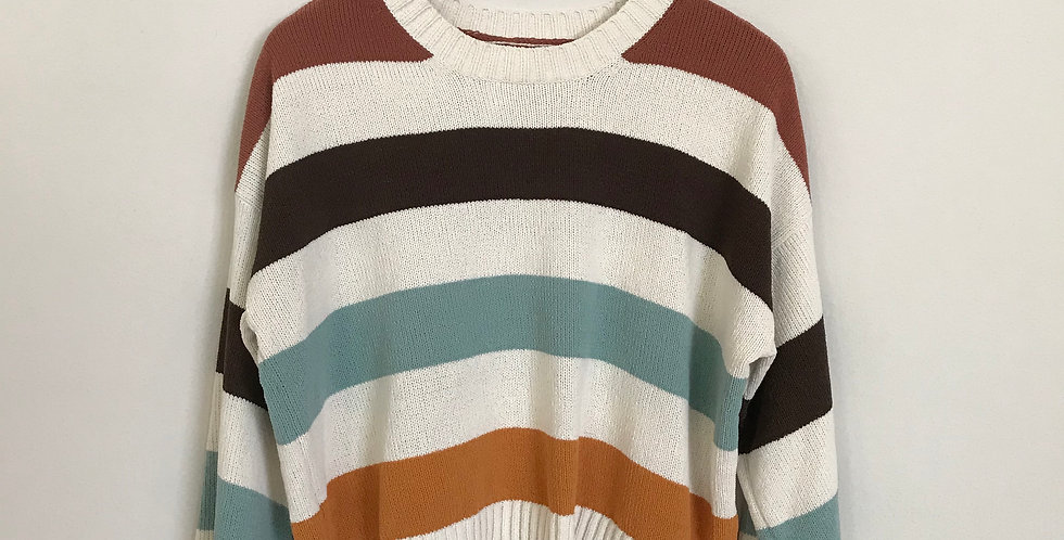 American Eagle Striped Chenille Sweater, Size M