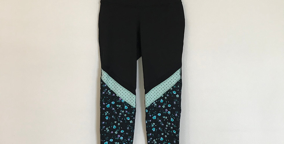 Old Navy Active Floral Tights, Size S