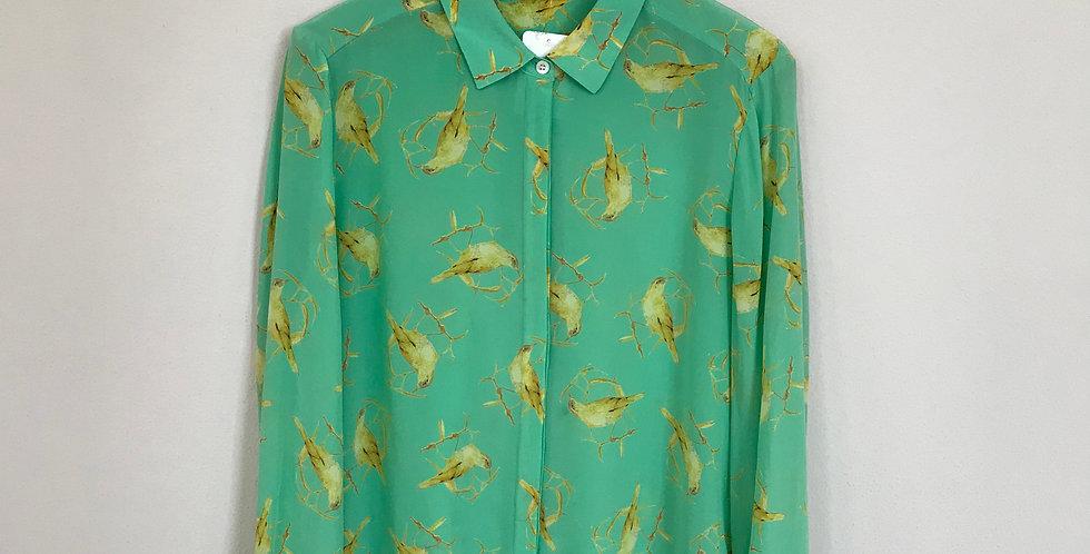 Leifsdottir Silk Shirt, Size L