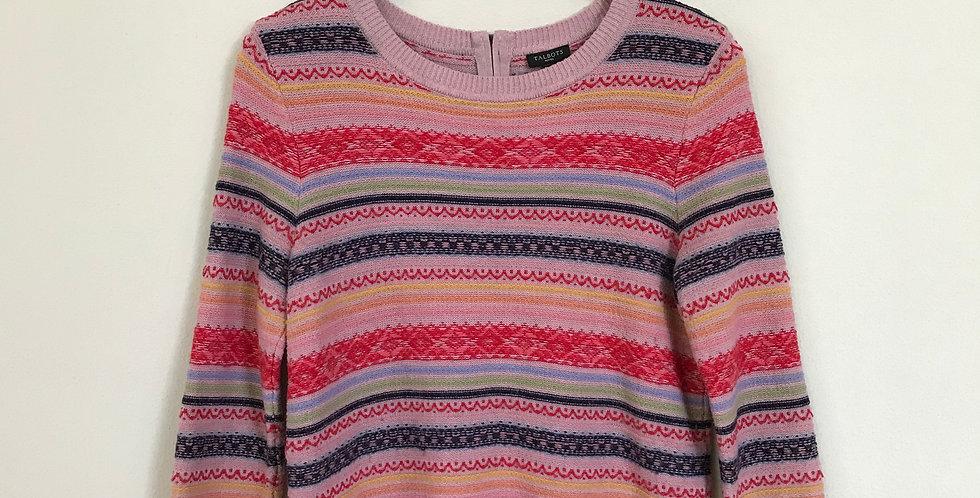 Talbots Stitch Stripe Sweater, Size MP