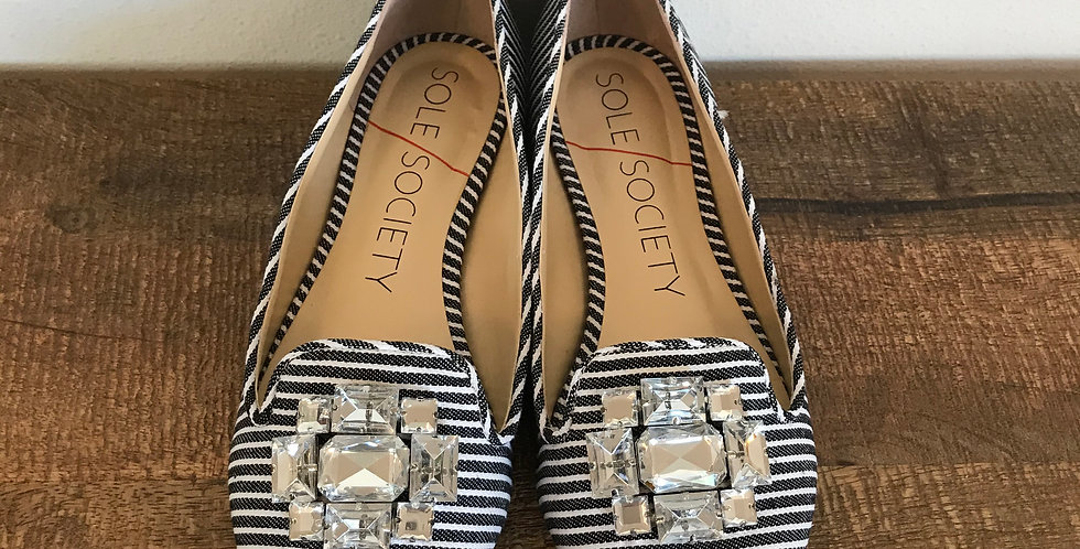 Sole Society Striped Flats, Size 8.5