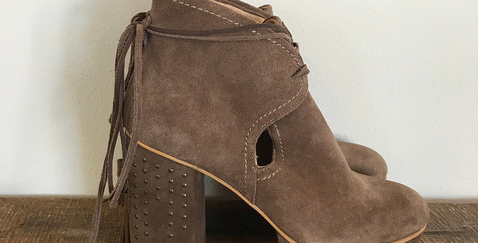 Free People Suede Platform Booties, Size 37 [6-6.5]