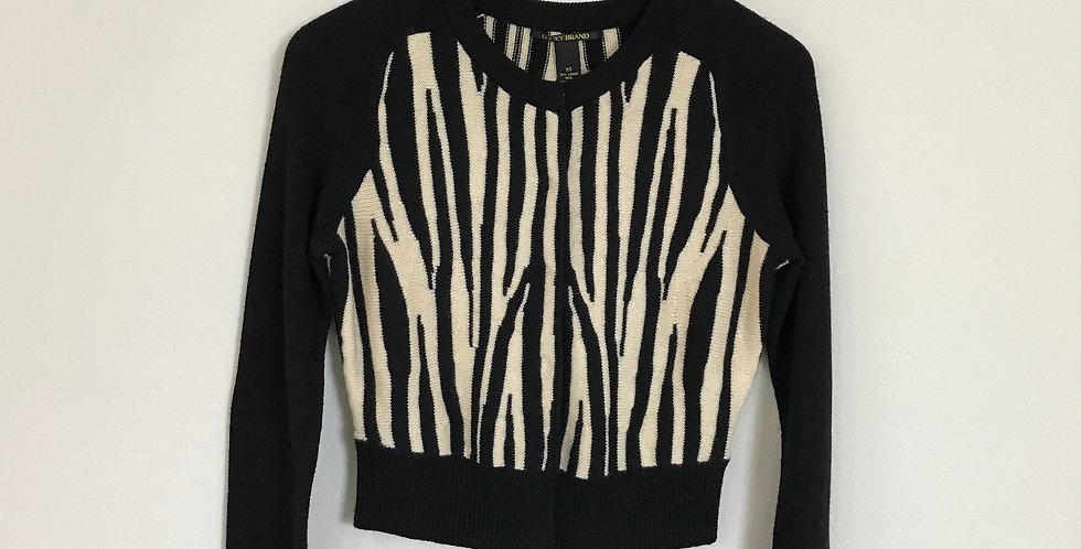 Lucky Brand Zebra Print Cardigan, Size XS