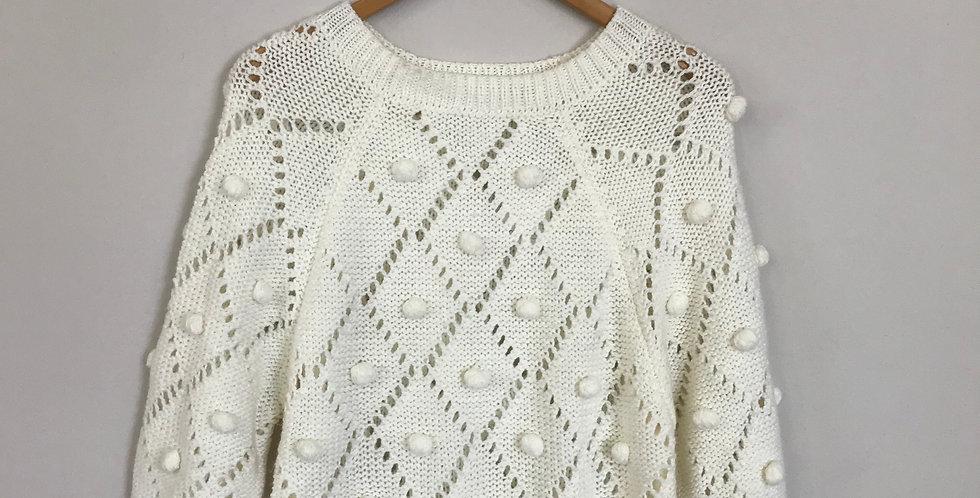 Mirumi Pom Detail Sweater, Size M