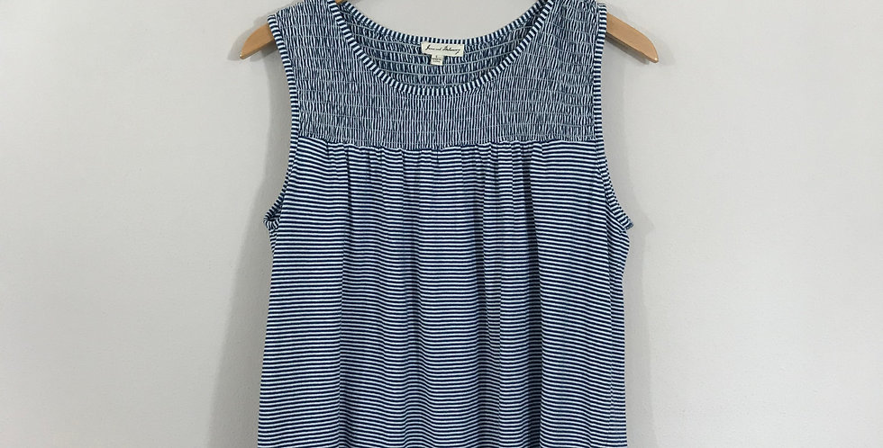 June and Delancey Striped Tank Top, Size S
