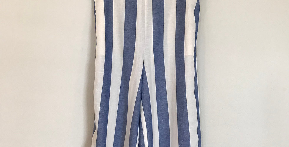 Madewell Striped Wide Leg Crops, Size M