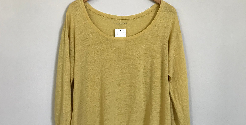 Eileen Fisher Linen Top, Size S