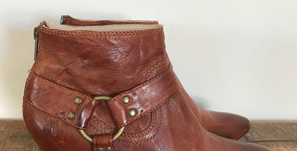 Frye Steffi Harness Booties, Size 8