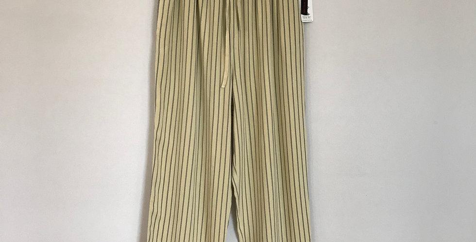 Action Wear Striped Tencel Pants, Size XL