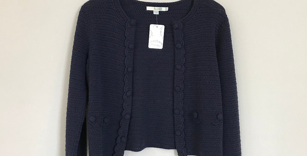 Boden Knit Cotton Shrug, Size S