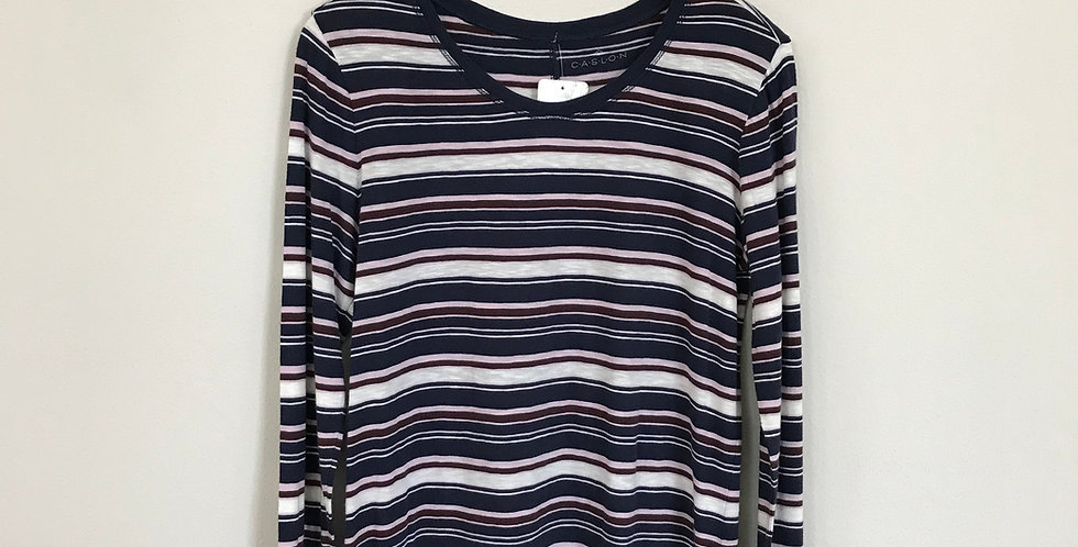 Caslon Striped Tee, Size L