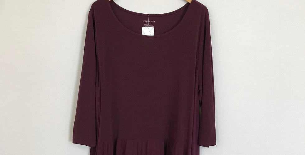 Lane Bryant Factory Jersey Knit Top, Size 2X