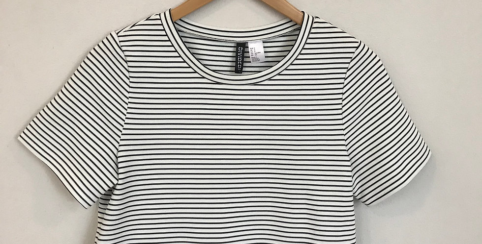 Divided by H&M Striped Top, Size XS