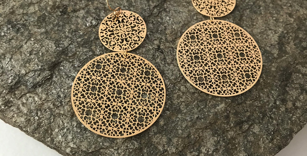 Laser Cut Disc Earrings