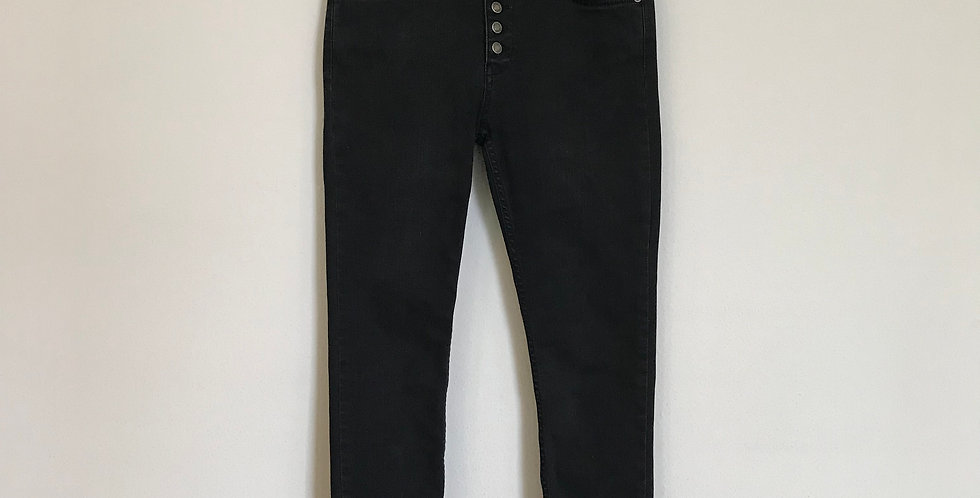 Free People Button Fly Skinny Denim, Size 4