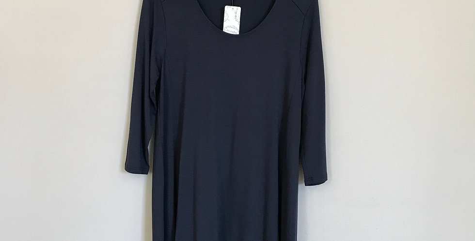 Garnet Hill Viscose Jersey Dress, Size L
